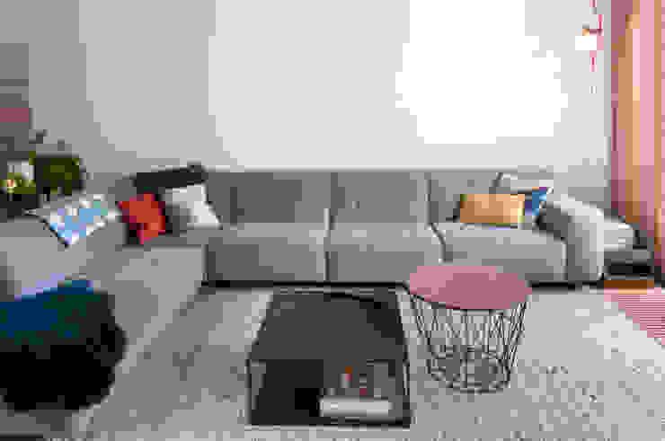 IJzersterk interieurontwerp Phòng khách Grey