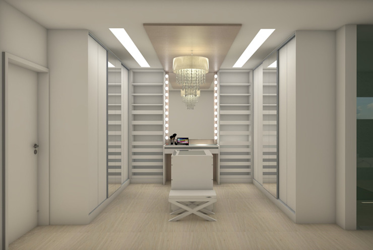 Minimalist style dressing rooms by Matos Xavier Arquitetura Minimalist