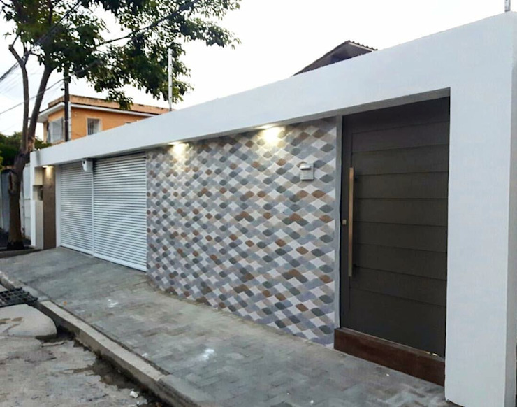 TE ARQUITETURA Modern Houses Ceramic Blue