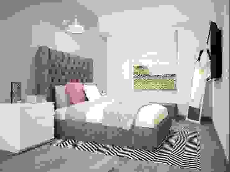 Diseño de recámaras Dormitorios modernos de Zono Interieur Moderno