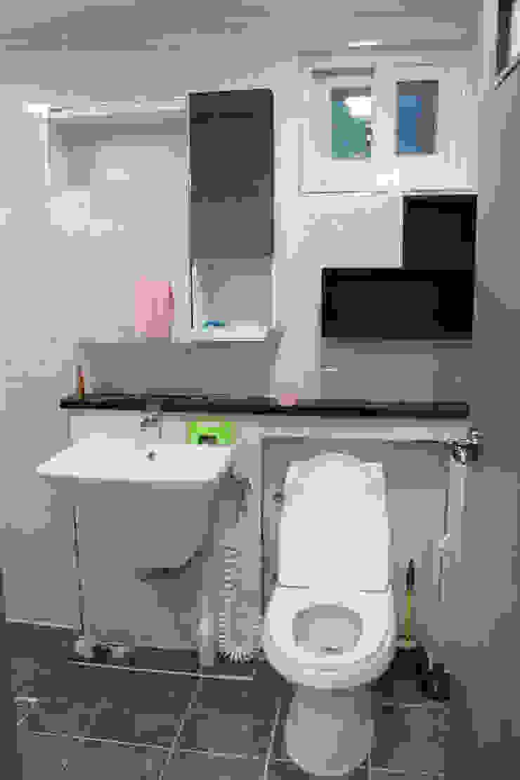 양산 상가 신축주택 리모델링 모던스타일 욕실 by 빅터인디자인그룹 모던