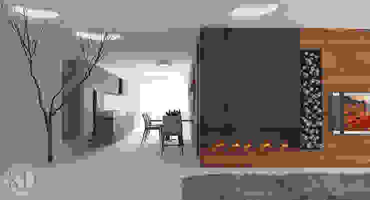 Проект двухкомнатной квартиры KOSOLAPOVA DESIGN Кухня в стиле минимализм Многоцветный