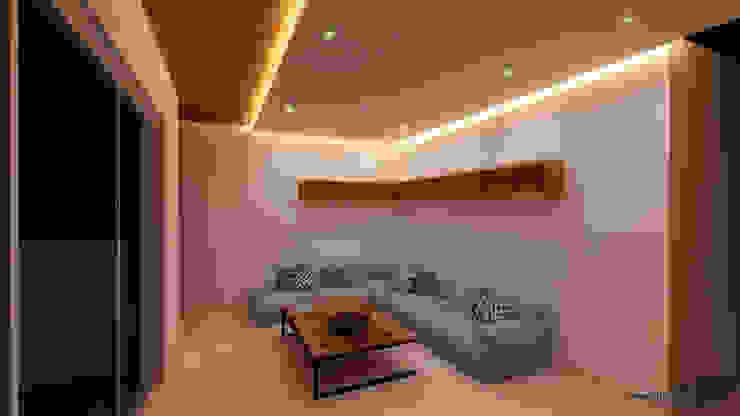 Bishnoi's Residence Pixilo Design Modern living room