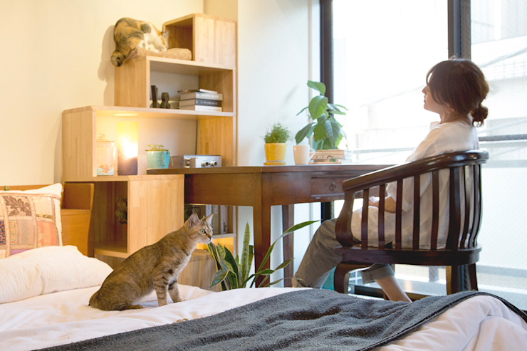 NYAND SHELF <TREE> - Furniture for Cats and Humans - &lodge inc. / 株式会社アンドロッジ BedroomBedside tables