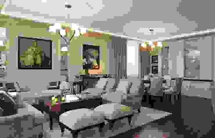 غرفة المعيشة تنفيذ Арт Реал Дизайн, كلاسيكي