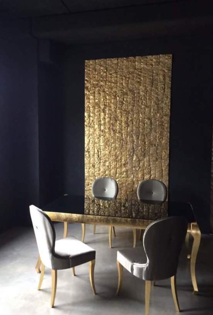 DECORAZIONI DALLA VALLE Office spaces & stores Stone Amber/Gold