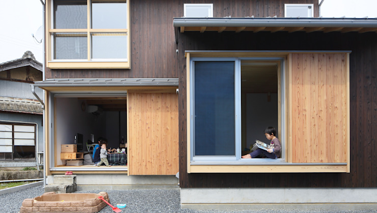Rustic style house by 芦田成人建築設計事務所 Rustic Wood Wood effect