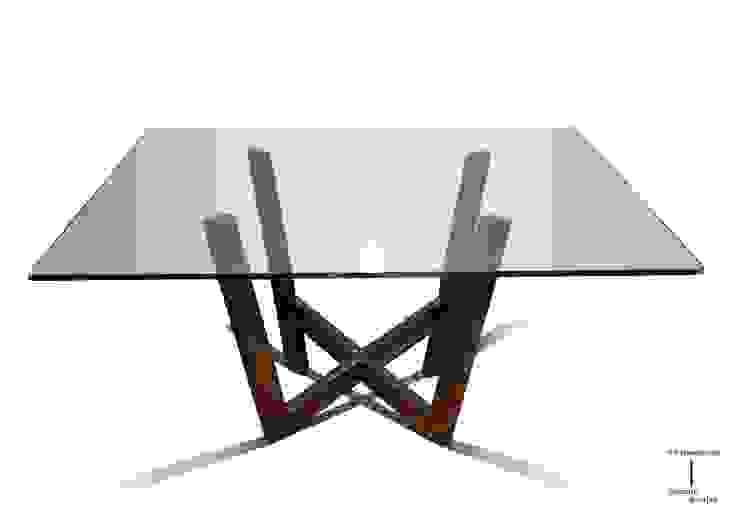 WANIA - Mesa moderna cuadrada (tablero de vidrio) de GONZALO DE SALAS Moderno
