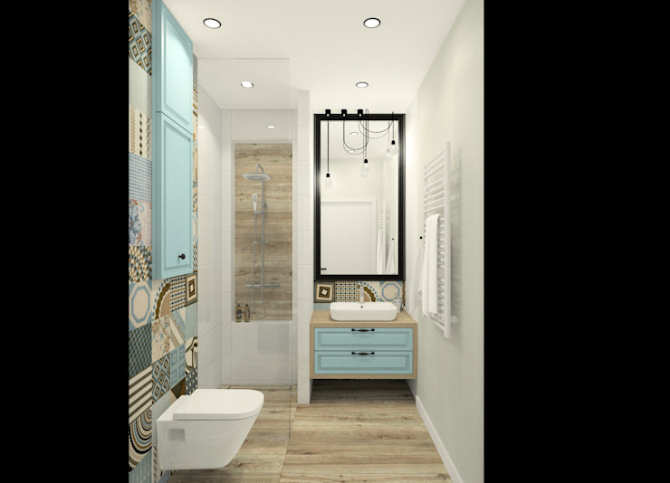 Baños de estilo  por Esteti Design, Escandinavo Azulejos