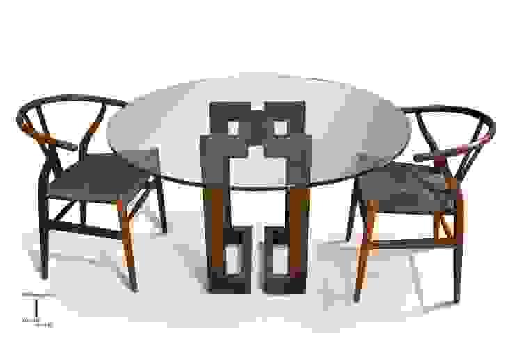 SENDAI - mesa de comedor circular de GONZALO DE SALAS Moderno