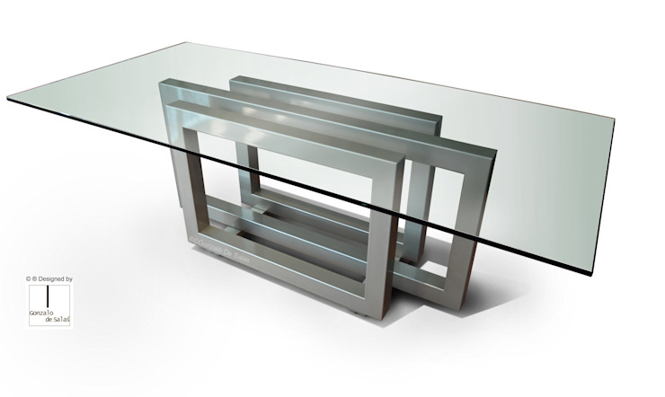 REBECCA - Mesa moderna (tablero de vidrio) de GONZALO DE SALAS Moderno