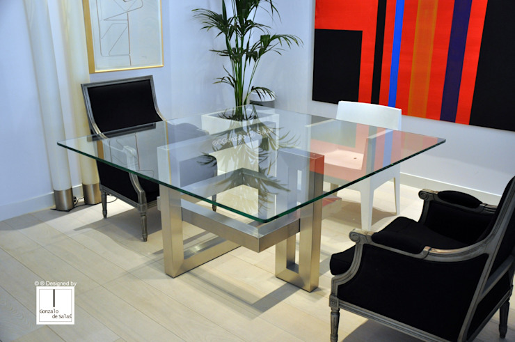 IOS - Mesa de vidrio cuadrada moderna de GONZALO DE SALAS Moderno