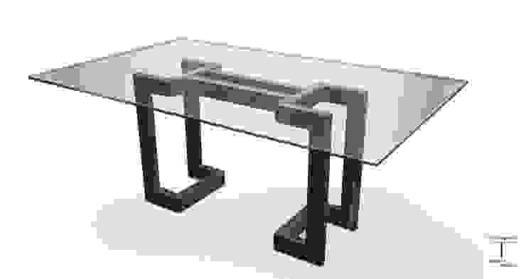 SENDAI - Mesa moderna (tablero de vidrio) de GONZALO DE SALAS Moderno