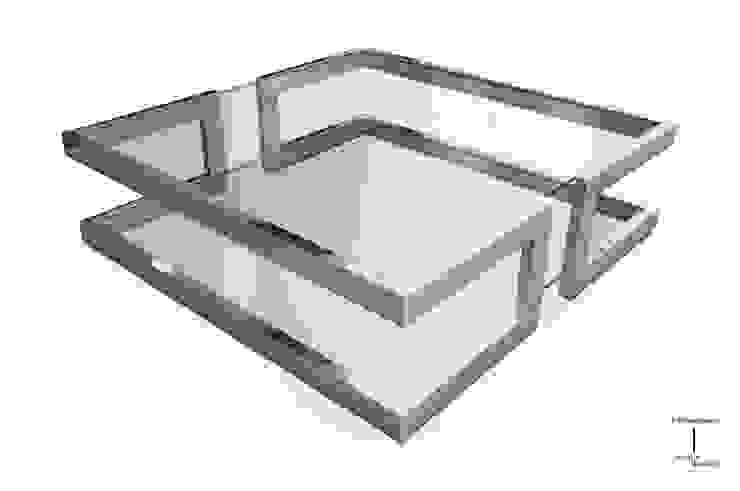 LISA - Mesa de centro moderna de vidrio de GONZALO DE SALAS Moderno