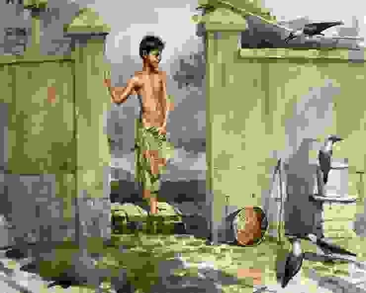 A Boy: asian  by Indian Art Ideas,Asian