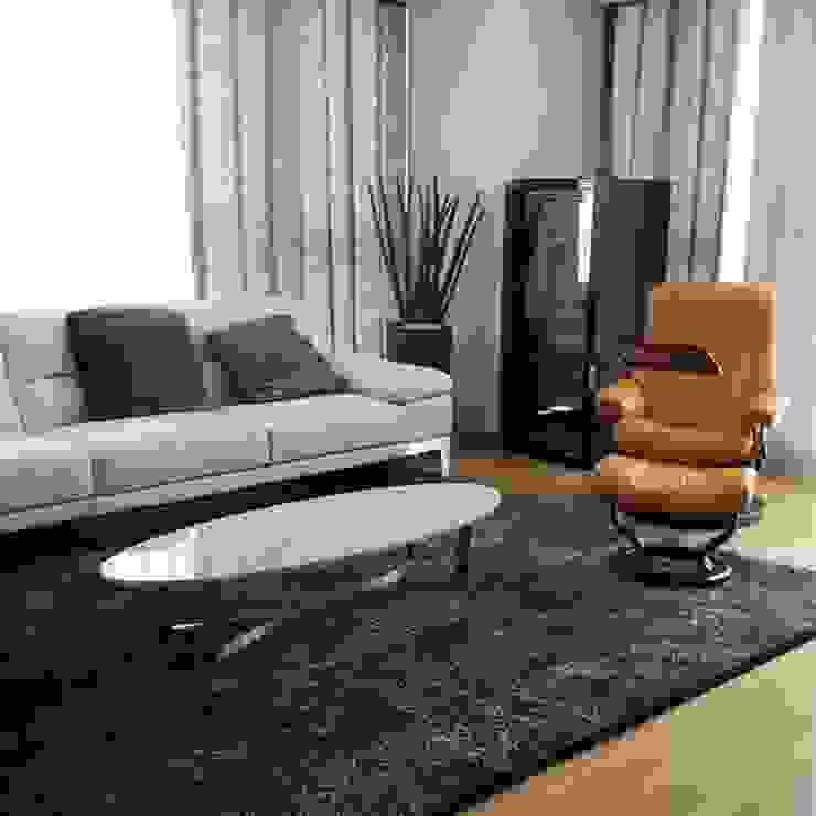 밴딩 X형 헤어라인SUS 테이블-비앙코카라라-600x1600,H300mm 모던스타일 거실 by MARBLEHOLIC 모던