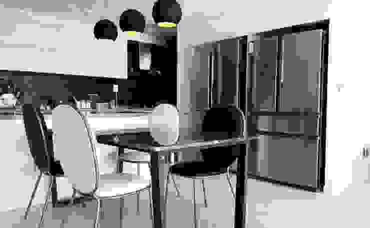 사다리꼴 블랙SUS 테이블-그리지오가르니코-1800x900,H750mm 모던스타일 다이닝 룸 by MARBLEHOLIC 모던