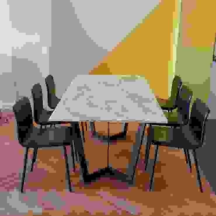 우리집 다이닝룸에 적합한 테이블 모던스타일 다이닝 룸 by MARBLEHOLIC 모던