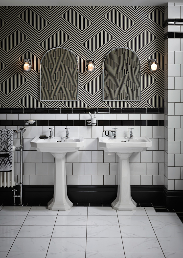 Granley Deco basins and pedestals Classic style bathroom by Heritage Bathrooms Classic