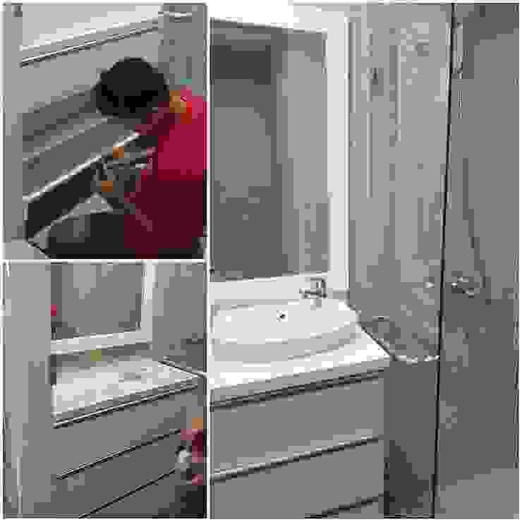 bathroom Oleh De' Catoer design & build Minimalis Kayu Lapis