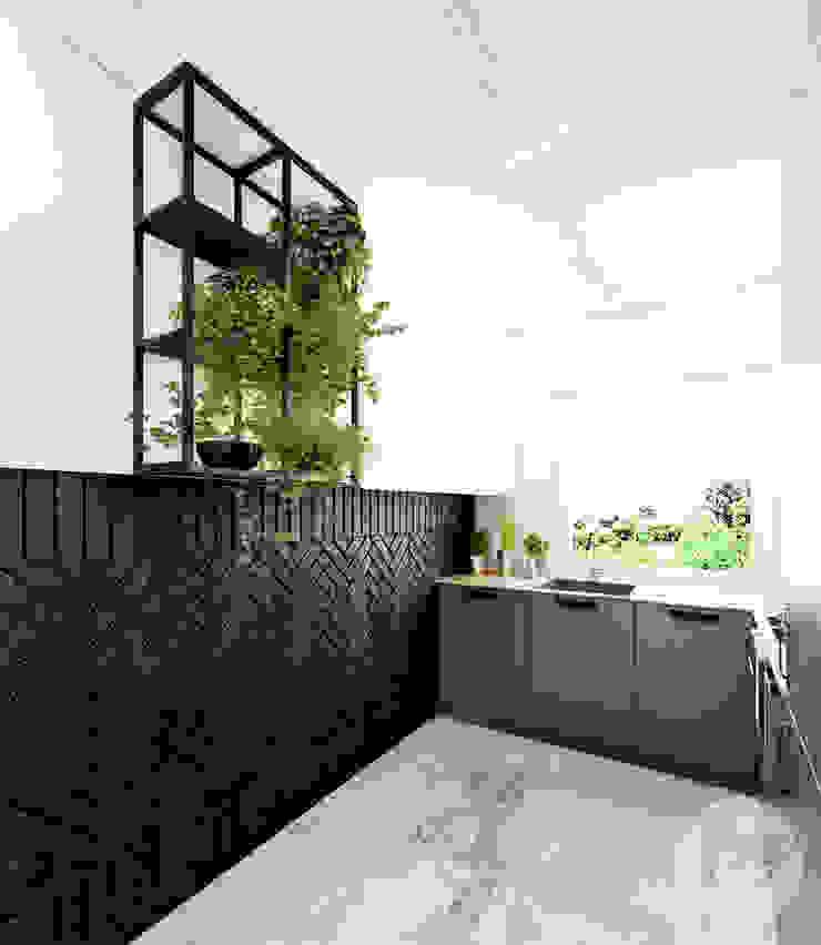 365 Stopni Industrial style kitchen Iron/Steel Black