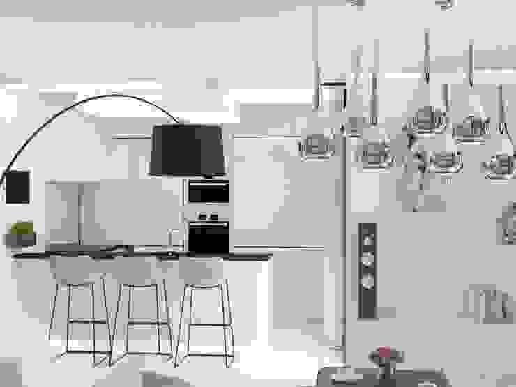 Anastasia Yakovleva design studio Cocinas de estilo minimalista Blanco