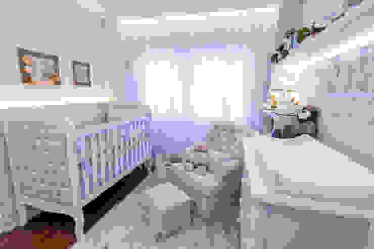Quarto de bebê menino KIDS Arquitetura para pequenos Quarto infantil clássico Azul