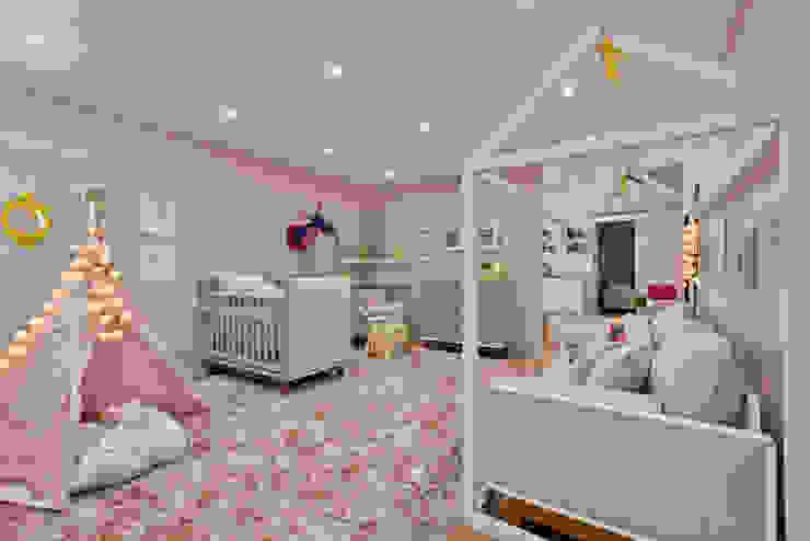 Quarto de menina moderninho KIDS Arquitetura para pequenos Quarto infantil moderno Rosa
