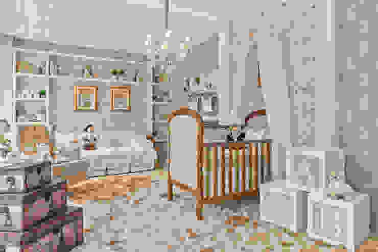Quarto de bebê clássico e rústico KIDS Arquitetura para pequenos Quarto infantil clássico Madeira Bege
