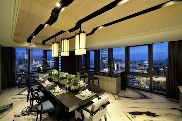 Eclectic style dining room by POSAMO十邑設計 Eclectic Marble