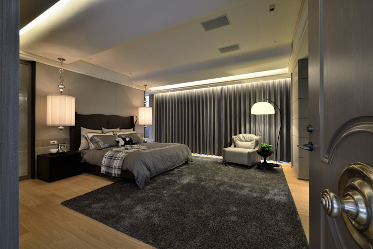 Eclectic style bedroom by POSAMO十邑設計 Eclectic