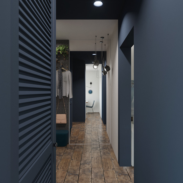 Hành lang, sảnh & cầu thang phong cách tối giản bởi ДОМ СОЛНЦА Tối giản