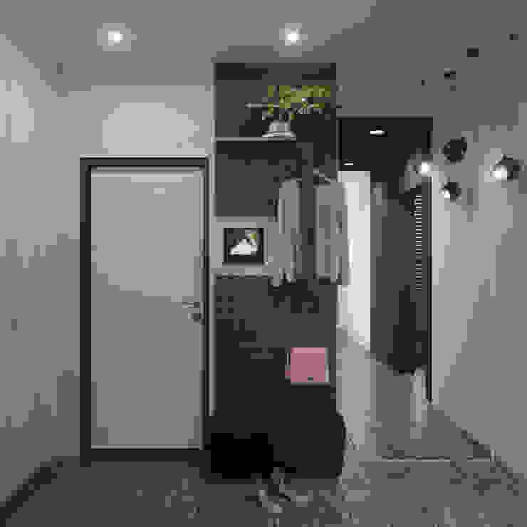 Minimalist corridor, hallway & stairs by ДОМ СОЛНЦА Minimalist