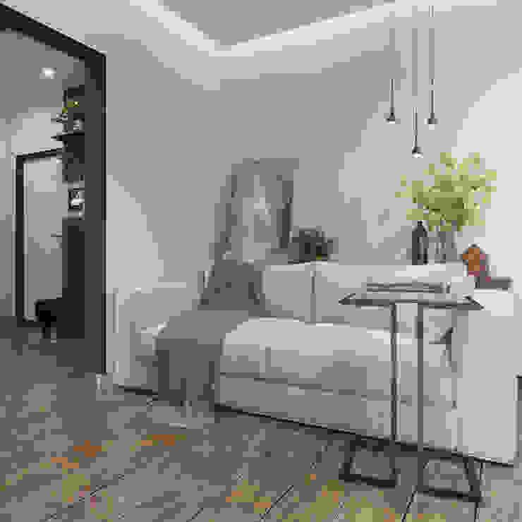 Phòng khách phong cách tối giản bởi ДОМ СОЛНЦА Tối giản