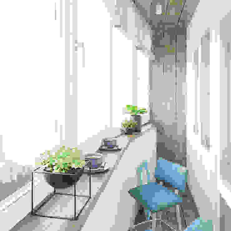 Minimalistischer Balkon, Veranda & Terrasse von ДОМ СОЛНЦА Minimalistisch