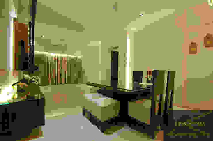 sewri residence Minimalist dining room by Karyam Designs Minimalist Wood Wood effect