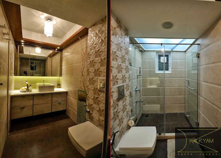 Apartment  in Bandra:  Bathroom by Karyam Designs