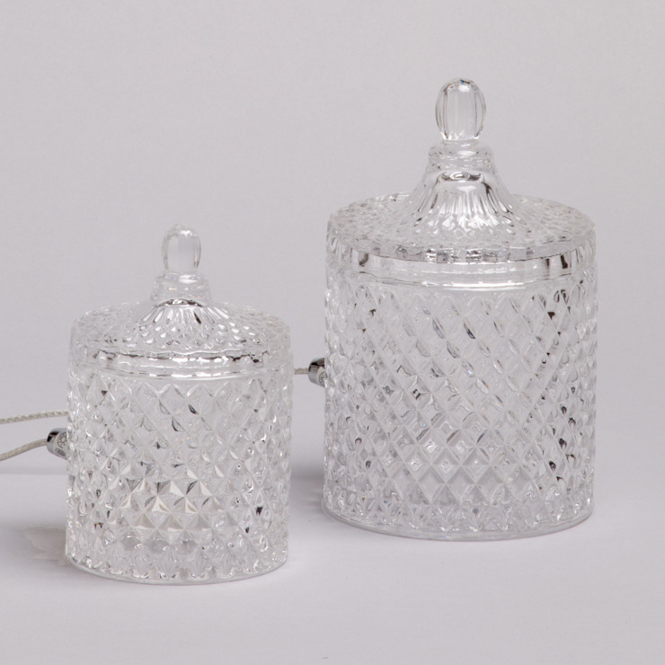 2 Light Vintage Decanter Style Table Lamp Jars - Glass Litecraft SoggiornoIlluminazione