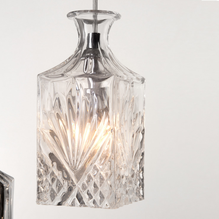 Gatsby 3 Light Cluster Pendant Light With Glass Shades - Chrome Litecraft SoggiornoIlluminazione