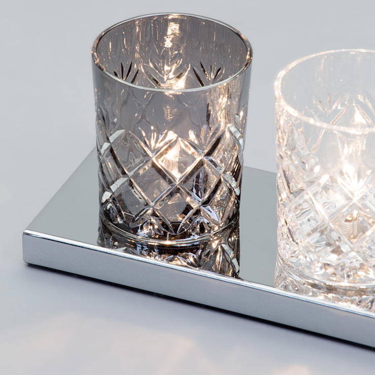 Gatsby Crystal Tumbler 7 Light Table Lamp - Glass and Chrome Litecraft SoggiornoIlluminazione