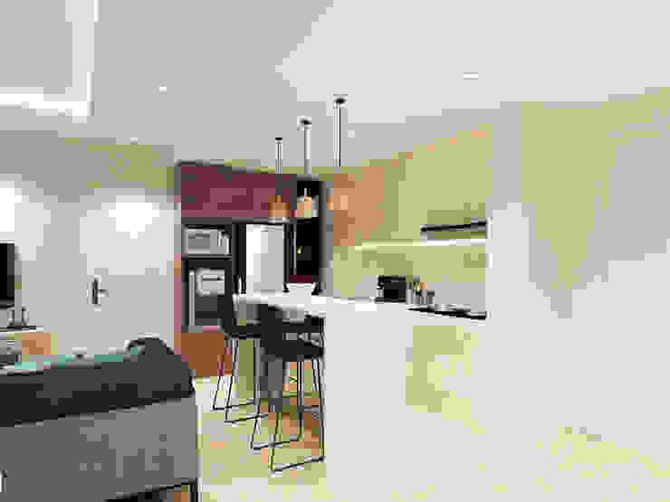 Studio Apartment – Art Deco Ruang Makan Minimalis Oleh iugo design Minimalis