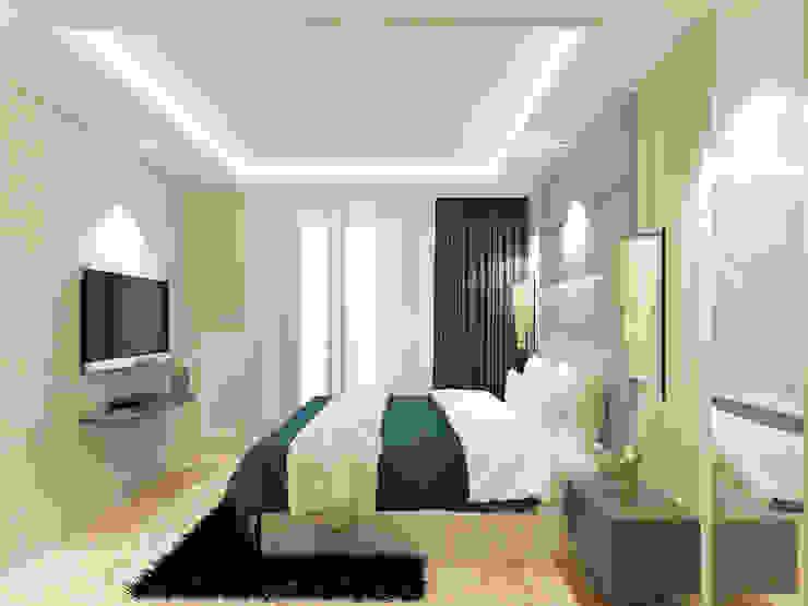 Studio Apartment – Art Deco Kamar Tidur Minimalis Oleh iugo design Minimalis