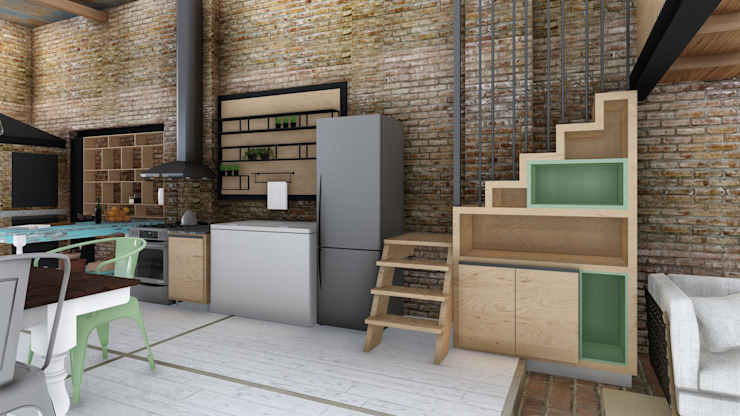 ARBOL Arquitectos Cocinas de estilo rústico
