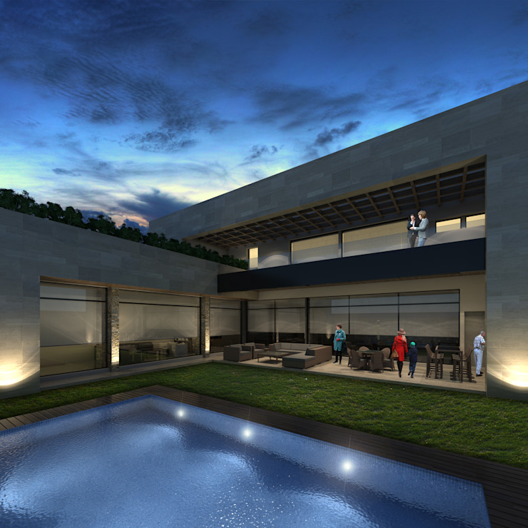 Rousseau Arquitectos Modern pool Grey