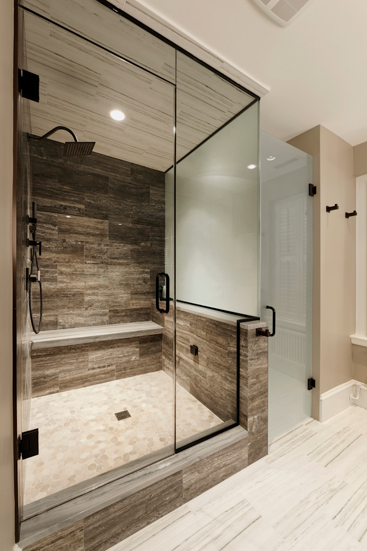 Luxury Kalorama Condo Renovation in Washington DC BOWA - Design Build Experts Minimalist style bathrooms