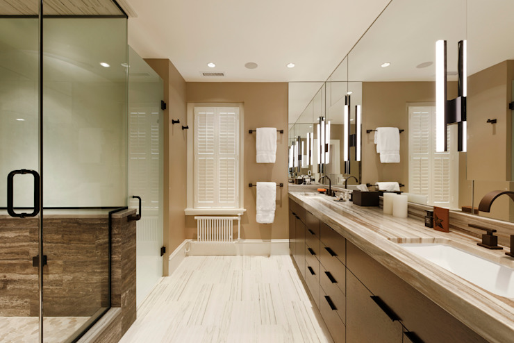 Luxury Kalorama Condo Renovation in Washington DC Minimalist style bathroom by BOWA - Design Build Experts Minimalist