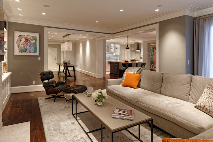 Luxury Kalorama Condo Renovation in Washington DC Minimalist living room by BOWA - Design Build Experts Minimalist