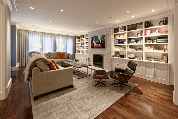 Luxury Kalorama Condo Renovation in Washington DC BOWA - Design Build Experts Minimalist living room