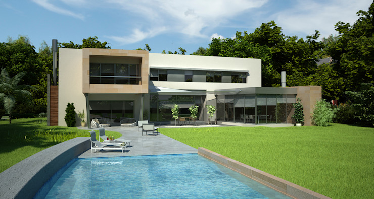 Minimalistische Häuser von LLACAY arquitectos Minimalistisch