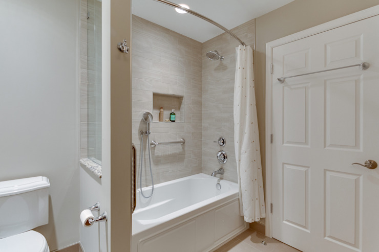 Universal Design Master Suite Renovation in McLean, VA BOWA - Design Build Experts Minimalist bathroom